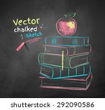 vector color chalk drawing of... | Shutterstock .eps vector #292090586