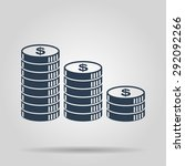 stack of coins icon. design... | Shutterstock .eps vector #292092266