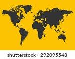 yellow world map illustration | Shutterstock .eps vector #292095548
