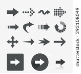 arrows. set elements for design.... | Shutterstock .eps vector #292108049