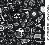 hand drawn doodle sport... | Shutterstock . vector #292109288