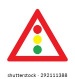 lights warning of traffic signs | Shutterstock .eps vector #292111388