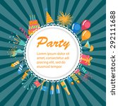party time background with... | Shutterstock .eps vector #292111688