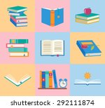 books icons set. knowledge... | Shutterstock .eps vector #292111874