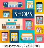 stores and shops buildings... | Shutterstock .eps vector #292113788