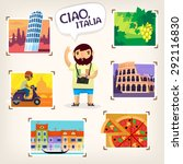 tourist making pictures of... | Shutterstock .eps vector #292116830
