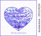 white st valentines card with... | Shutterstock .eps vector #292119224