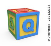 Alphabet Toy Block   Letter Q