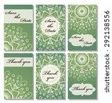 vintage vector card templates.... | Shutterstock .eps vector #292138556