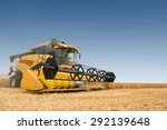 Close View Of Modern Combine...