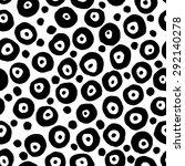 decorative hand drawn seamless... | Shutterstock .eps vector #292140278
