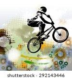 bmx rider. sport illustration | Shutterstock . vector #292143446
