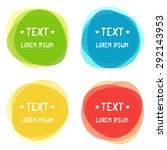 vector colorful banners | Shutterstock .eps vector #292143953