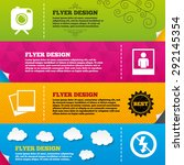 flyer brochure designs. hipster ... | Shutterstock .eps vector #292145354