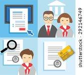 banking  finance  credit... | Shutterstock .eps vector #292146749