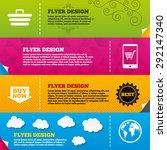 flyer brochure designs. online... | Shutterstock .eps vector #292147340