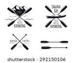 Set Of Kayak Emblems  Badges...
