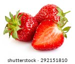 fresh strawberries isolated on... | Shutterstock . vector #292151810