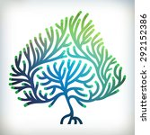 abstract tree creative concept  ... | Shutterstock .eps vector #292152386