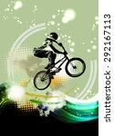 bmx rider | Shutterstock . vector #292167113