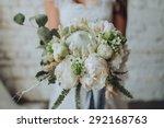 girl in a white wedding dress... | Shutterstock . vector #292168763