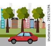 city transport design  vector... | Shutterstock .eps vector #292171196