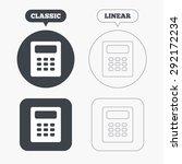 calculator sign icon.... | Shutterstock .eps vector #292172234