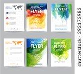 set of watercolor brochure   Shutterstock .eps vector #292173983
