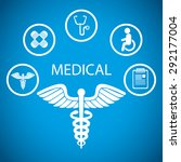 medical digital design  vector... | Shutterstock .eps vector #292177004