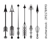 hand drawn arrows graphic set | Shutterstock .eps vector #292178993