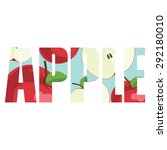 vector apple  poster with...
