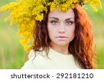 Young Woman Portrait In Autumn...