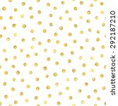 seamless pattern with gold... | Shutterstock . vector #292187210