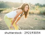 young woman standing and... | Shutterstock . vector #292193054