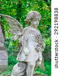 angel child statue in the... | Shutterstock . vector #292198838