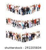 isolated over white together we ... | Shutterstock . vector #292205834