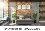modern interior  in the loft... | Shutterstock . vector #292206398