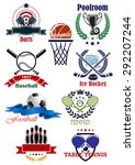 sporting club or competition... | Shutterstock .eps vector #292207244