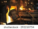 smelting of the metal in the... | Shutterstock . vector #292210754