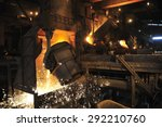 smelting of the metal in the... | Shutterstock . vector #292210760