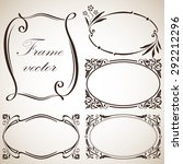 abstract vintage frame vector... | Shutterstock .eps vector #292212296
