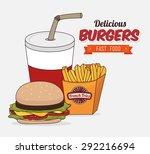 hamburger digital design ... | Shutterstock .eps vector #292216694