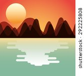double exposure design  vector... | Shutterstock .eps vector #292225808