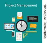 project management illustration.... | Shutterstock .eps vector #292229906