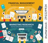 banner for financial management ... | Shutterstock .eps vector #292229924