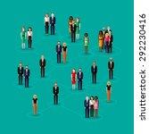 flat illustration of society... | Shutterstock . vector #292230416