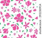 vector magenta flowers... | Shutterstock .eps vector #292230914