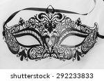 carnival dress up black mask on ... | Shutterstock . vector #292233833