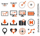 drone control icon set designed ... | Shutterstock . vector #292235594