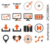 drone control icon set designed ... | Shutterstock .eps vector #292238804
